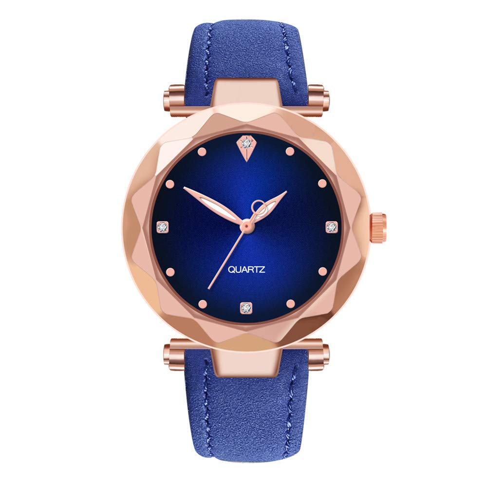 DealYEP Watch High-end Blue Glass Life Waterproof Distinguished Unisex DY92