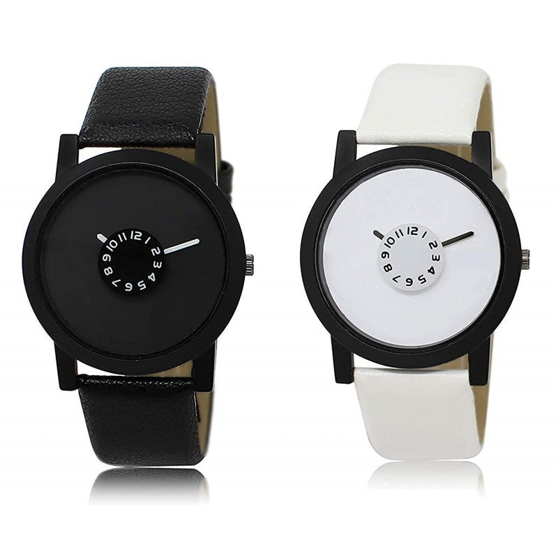 Black & White Color Men's Analog Watch DY13