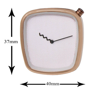 Analogue Stylish Cross Crown Square Dial Brown Leather Japanese Quartz Movement Casual Watch for Men & Boys DY61