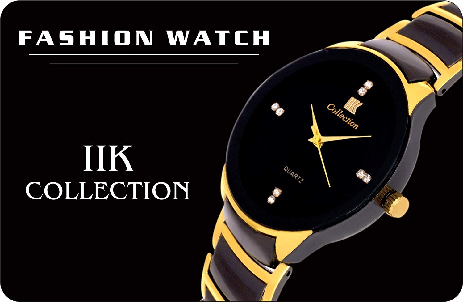 IIk Collection Watches Analogue Black Dial Men's and Boys Watch - DY59