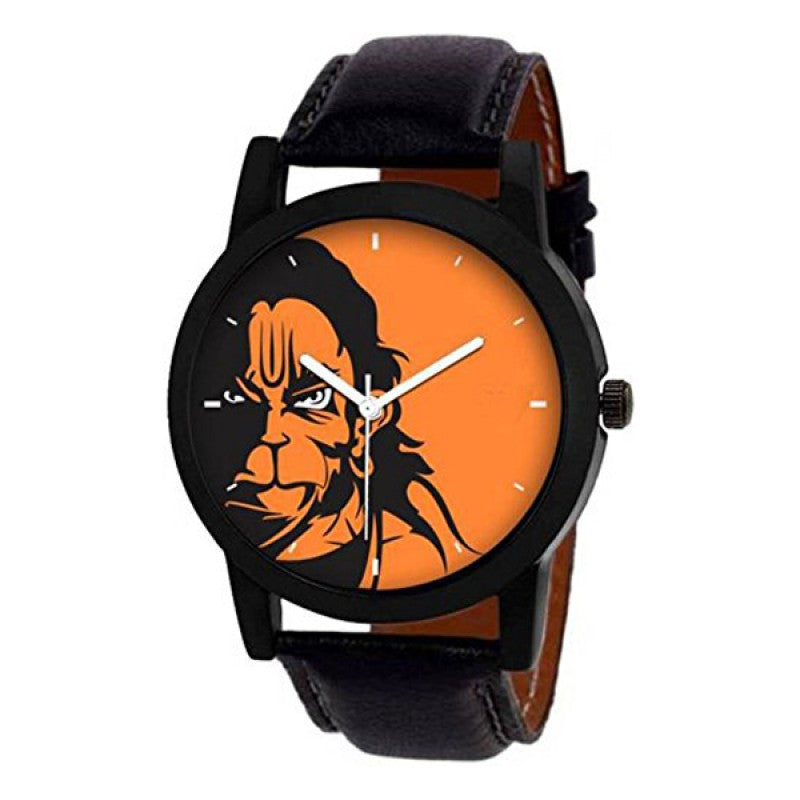 Lord Hanuman Black Color Analog Men's Watch DY17