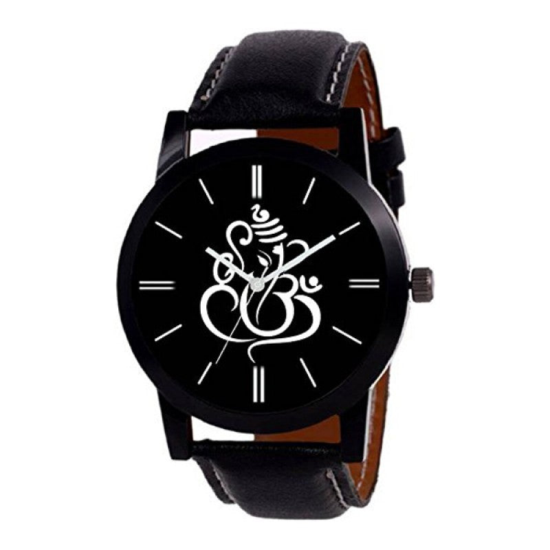 Lord Ganesh Black Color Men's Analog Watch DY19