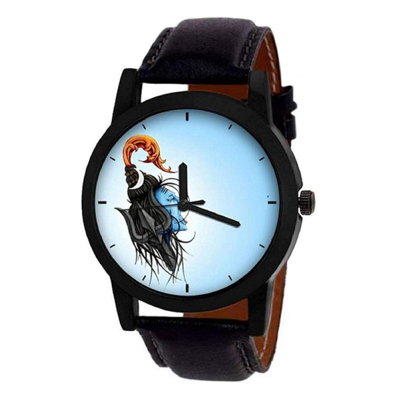 Lord Shiva Black Color Men's Analog Watch DY21