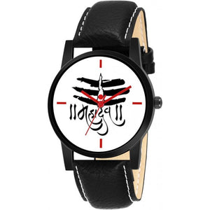 Lord Mahadev Black Color Men's Analog Watch DY28