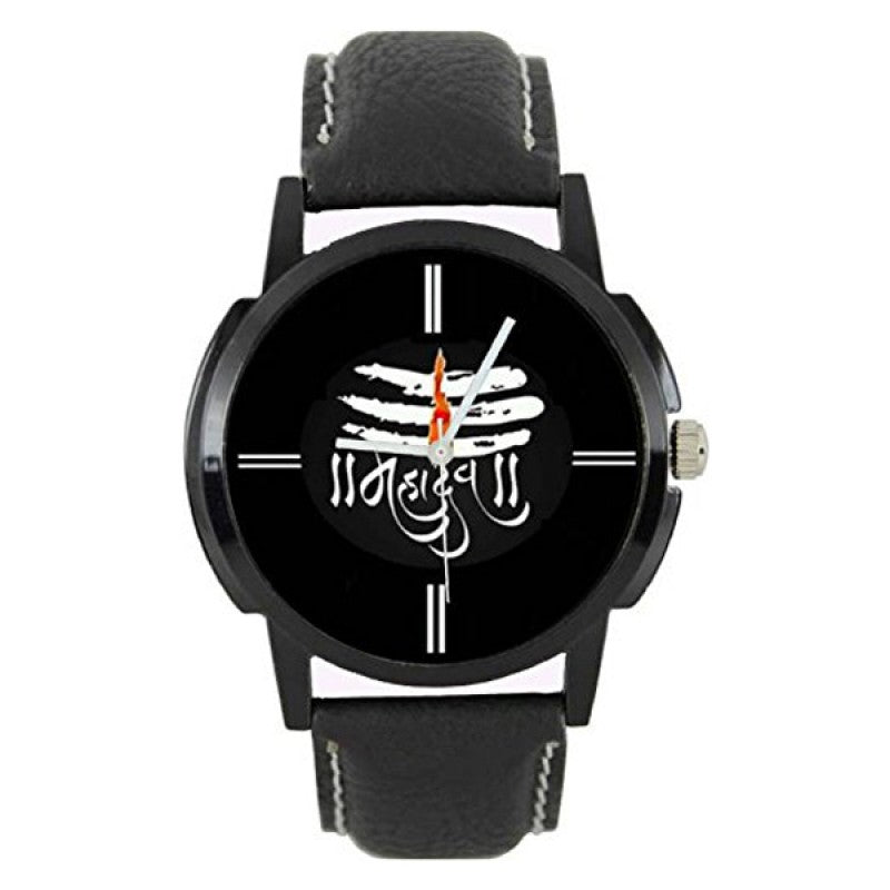 Lord Mahadev Black Color Men's Analog Watch DY23