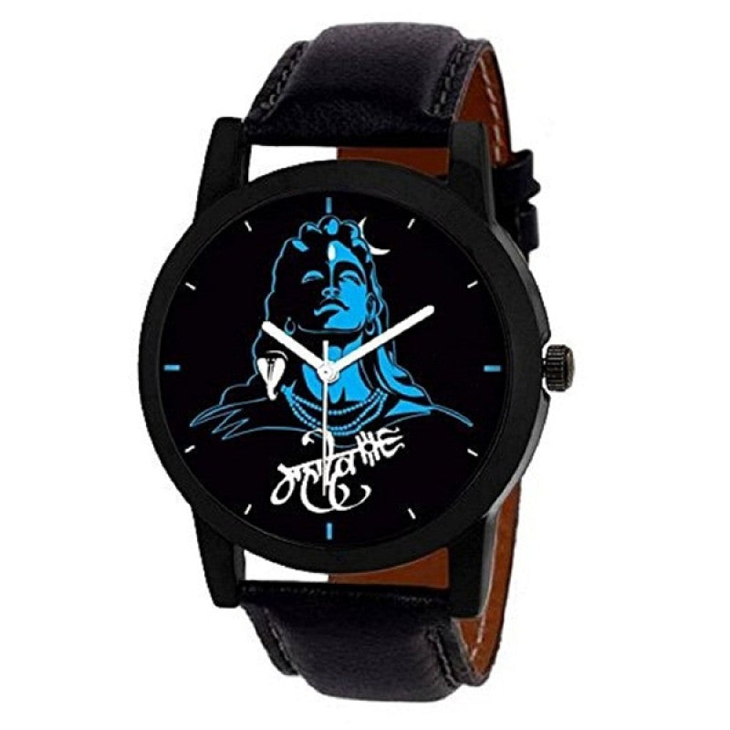 Lord Shiva Mahadev Black Color Men's Analog Watch DY25
