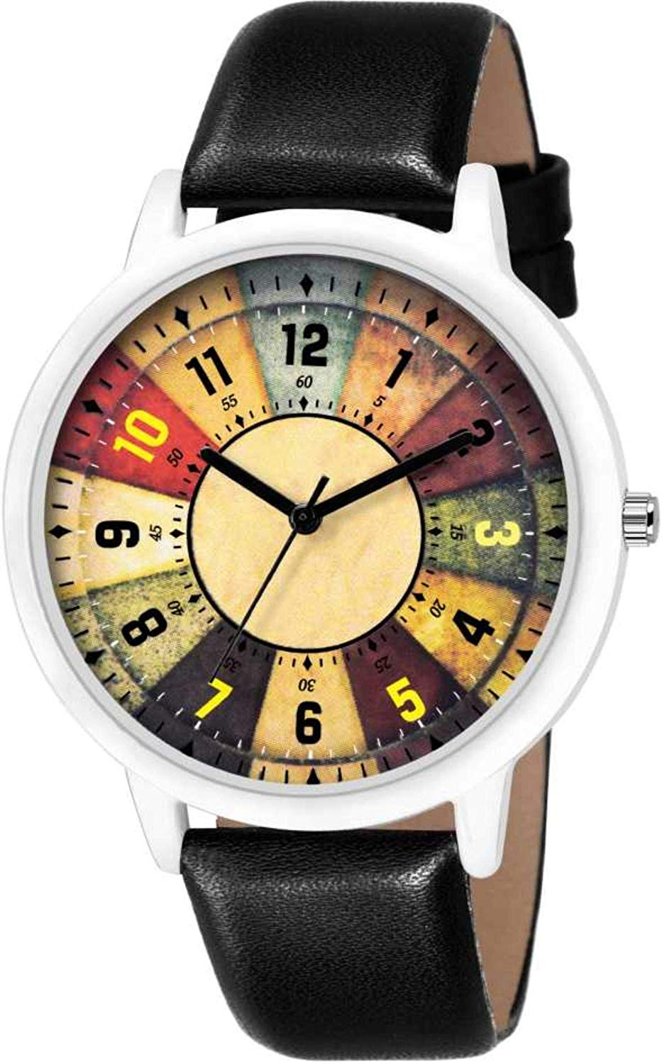 DealYEP Black Leather Strap Luxury Fashion Watch for Boys & Girls DY123