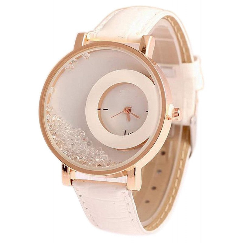 DealYEP Analogue White Dial Girl's & Women's Watch DY89