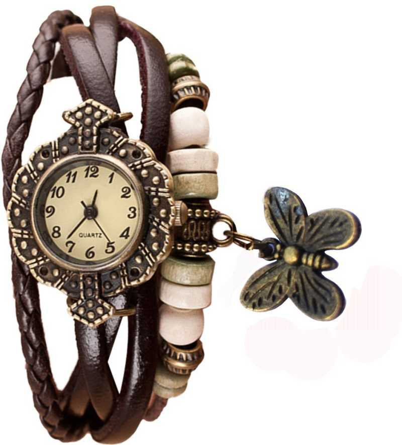 DealYEP Brown vintage butterfly stylish watch Analog Watch - For Girls DY73