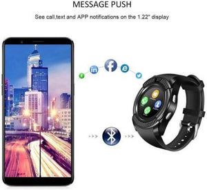 SMART WATCH WITH CAMERA,CALLING BLACK STRAP BLACK DIAL Smartwatch  (Black Strap FREE) DY102