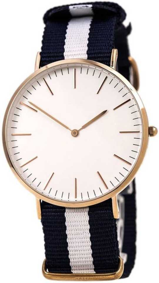 casual Ultra Slim Dial Heavy Material Multi Color Fabric strap Analog Watch - For Men & Women DY107