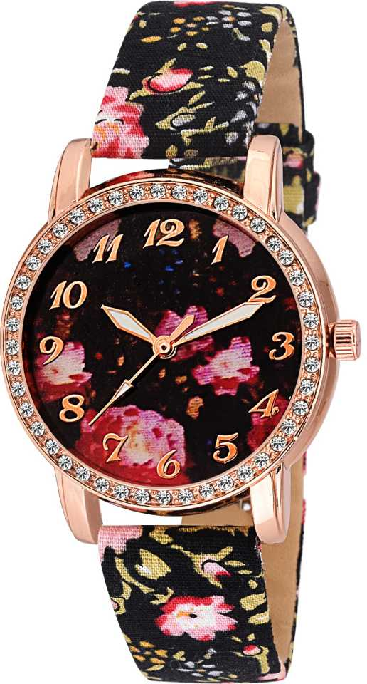DealYEP LORAL PARTY WEAR DIAMOND STUDDED FANCY WOMEN LADIES Analog Watch - For Girls DY72