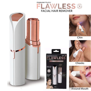 Flawless Portable Women's Painless Hair Remover - Painlessly Electric Ladies Hair Shaver Cordless Trimmer for Women