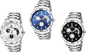 Pack of 3 Multi colour Analog Combo Watch Set for Hybrid Smartwatch Watch - For Men DY67