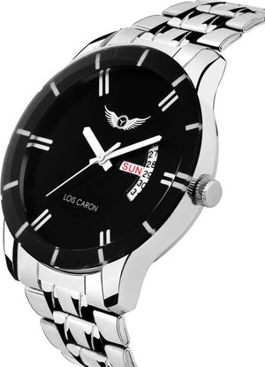 BLACK DIAL DAY & DATE FUNCTIONING Analog Watch - For Men DY46