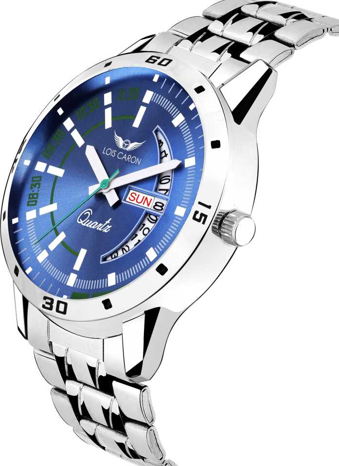 BLUE DIAL DAY & DATE FUNCTIONING Analog Watch - For Men DY44