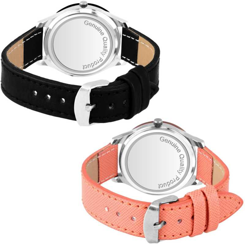 DealYEP Rich look Black and Orange Dial Analog Watch - For Girls DY74