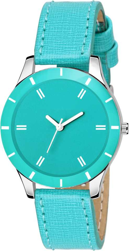DealYEP Colored Dial Stylish Sky blue dial Sky blue strap SKy blue Analog Watch - For Girls DY83