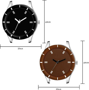 DealYEP Stylish Black and Brown Dial Analog Watch - For Girls DY75
