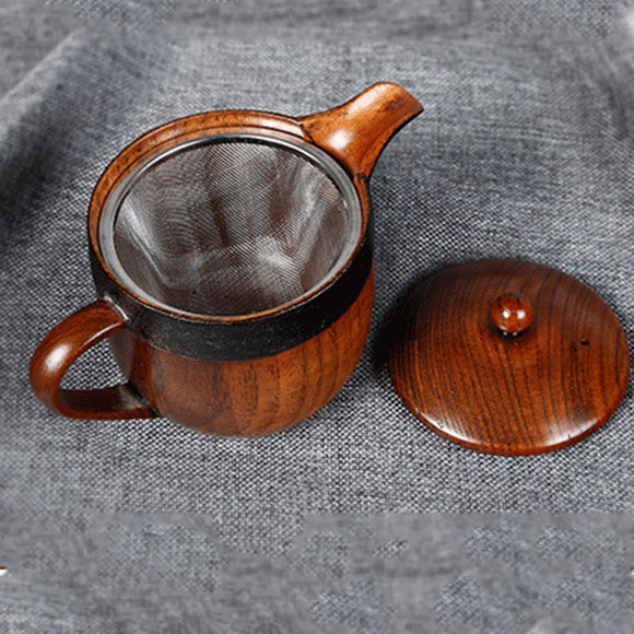 Mini Wooden Teapot