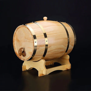 Oak Wine Barrel Set - Stand, Tap, Wine Barrel