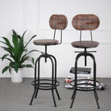 Adjustable Rustic Bar Stool - Cafe Chair