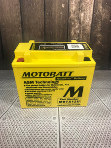 Motobatt MBTZ12U Motorcycle battery AGM - Battery HQ Brisbane