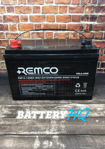 Remco RM12-120DC-M8 120AH AGM Deep Cycle - Battery HQ Brisbane