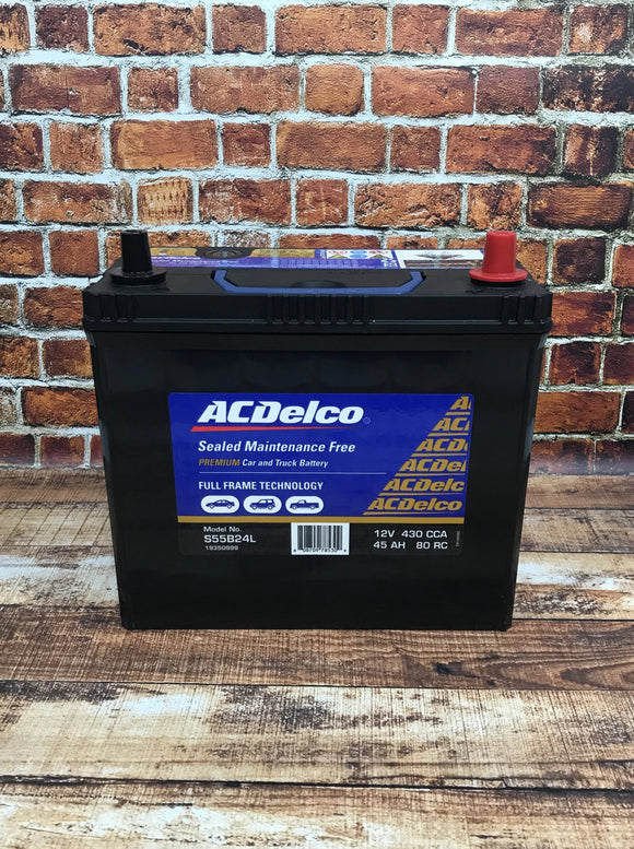 AC Delco S55B24L Car Battery