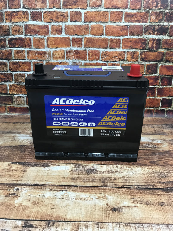 AC Delco S80D26L Battery