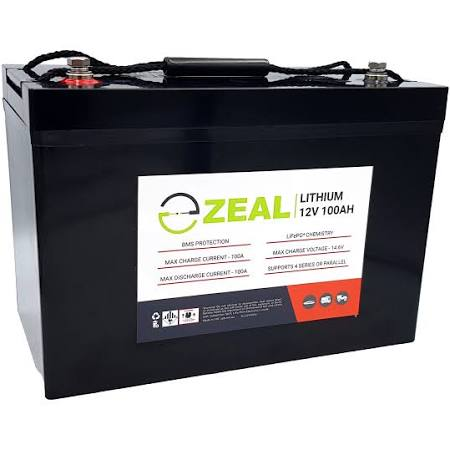 Zeal Lithium SLZ12V100S Deep Cycle Battery 100ah