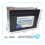 Invicta SNL12v100BT Lithium Deep Cycle Battery - Battery HQ Brisbane