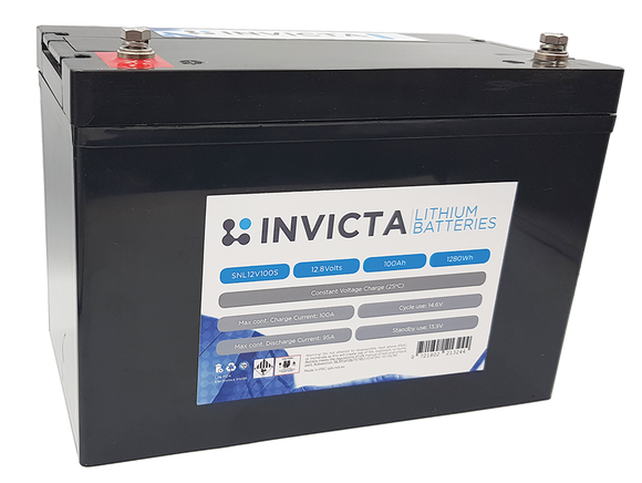 Invicta SNL12v100s Lithium Deep Cycle Battery - Battery HQ Brisbane