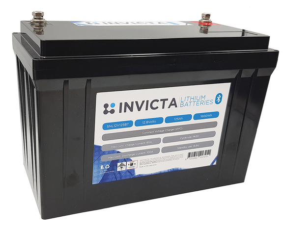 Invicta SNL12v125BT Lithium Deep Cycle Battery - Battery HQ Brisbane