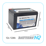Invicta SNL12v12s Lithium Deep Cycle Battery - Battery HQ Brisbane