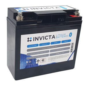 Invicta SNL12V20BT Lithium Deep Cycle Battery - Battery HQ Brisbane