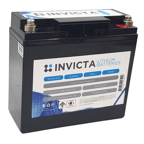 Invicta SNL12v20s Lithium Deep Cycle Battery - Battery HQ Brisbane