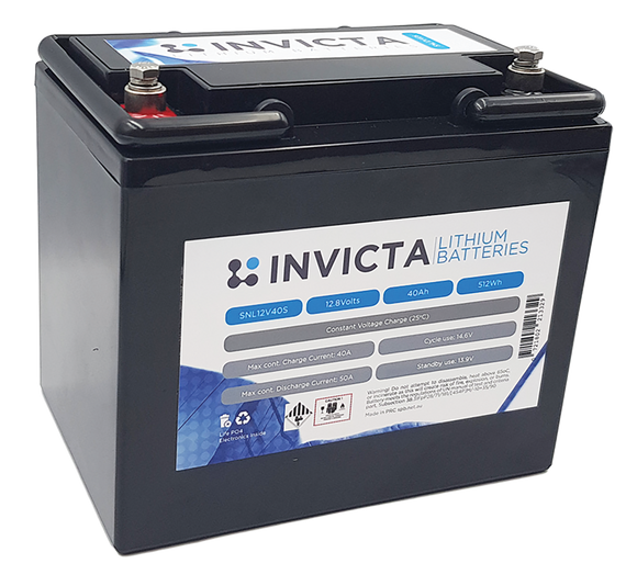 Invicta SNL12v40s Lithium Deep Cycle Battery - Battery HQ Brisbane - kayak