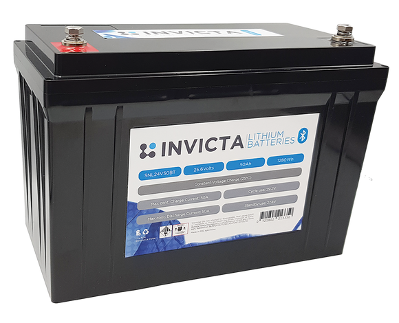 Invicta SNL24V50BT Lithium Deep Cycle Battery - Battery HQ Brisbane