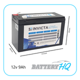 Invicta SNL12v9 Lithium Deep Cycle Battery HQ Brisbane
