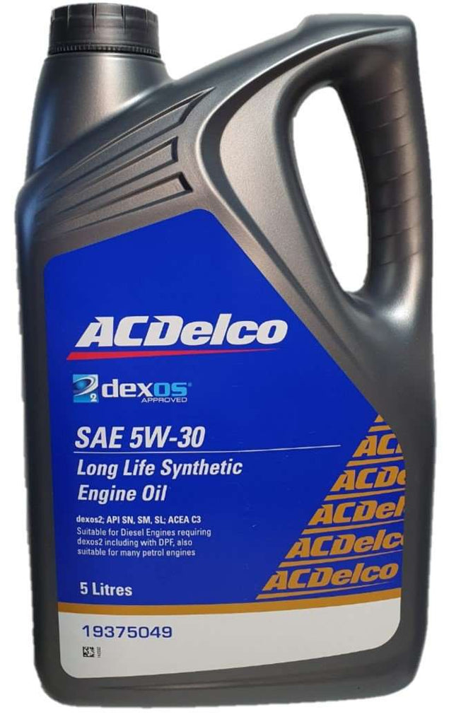 Ac Delco Long Life Synthetic Engine Oil Sae 5w 30 5 Litres 19375049 De