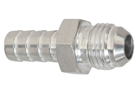 "-6AN Flare to 3/8"" (.375) Hose Barb Adapter Fitting Aluminum Flare"