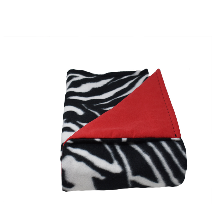5LB Zebra-Red Fleece and Flannel