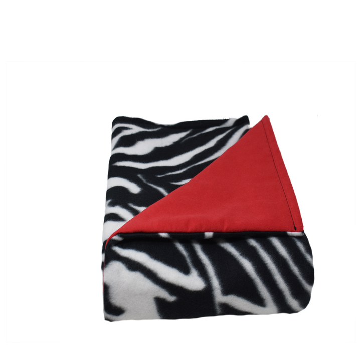 7LB Zebra-Red Fleece and Flannel