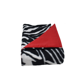 8LB Zebra-Red Fleece and Flannel
