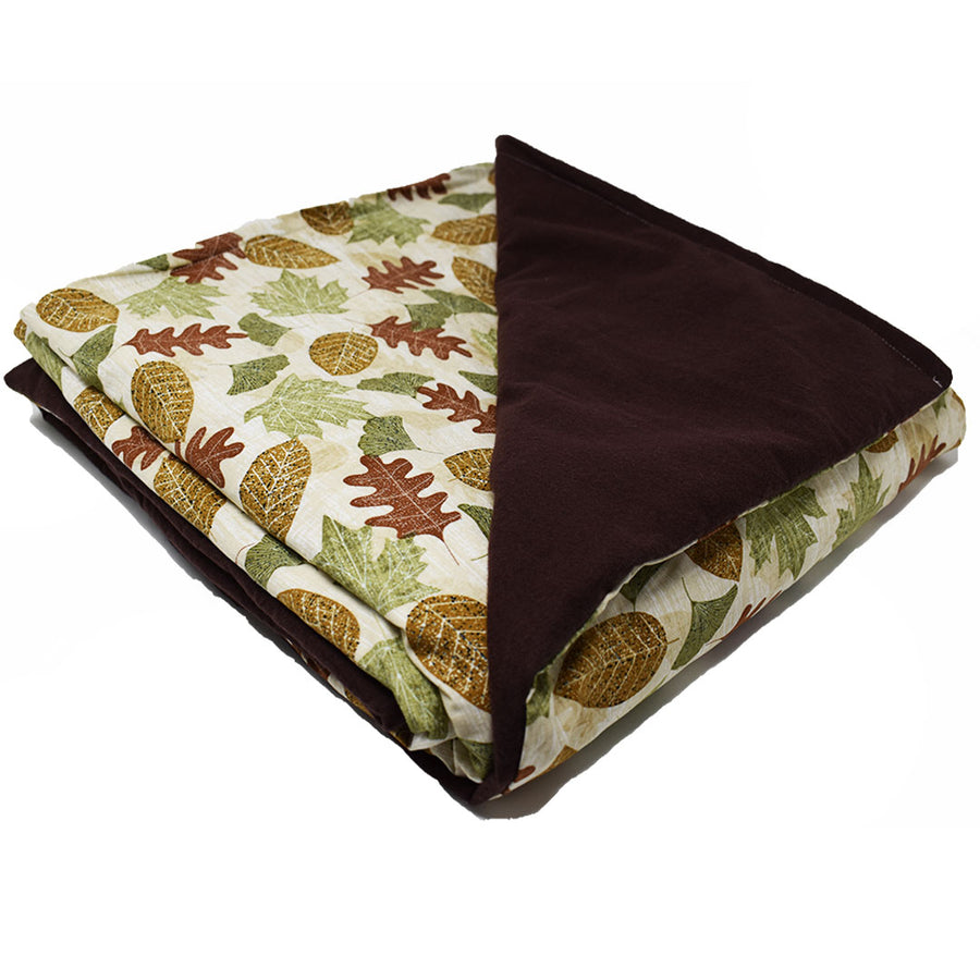 13LB Autumn Leaves-Brown Cotton and Flannel