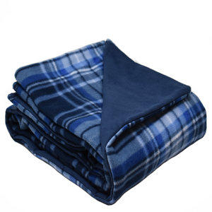 5LB Herringbone-Navy Fleece and Flannel