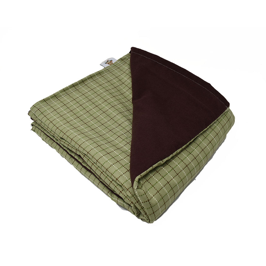 7LB Lodge Plaid-Brown Cotton and Flannel