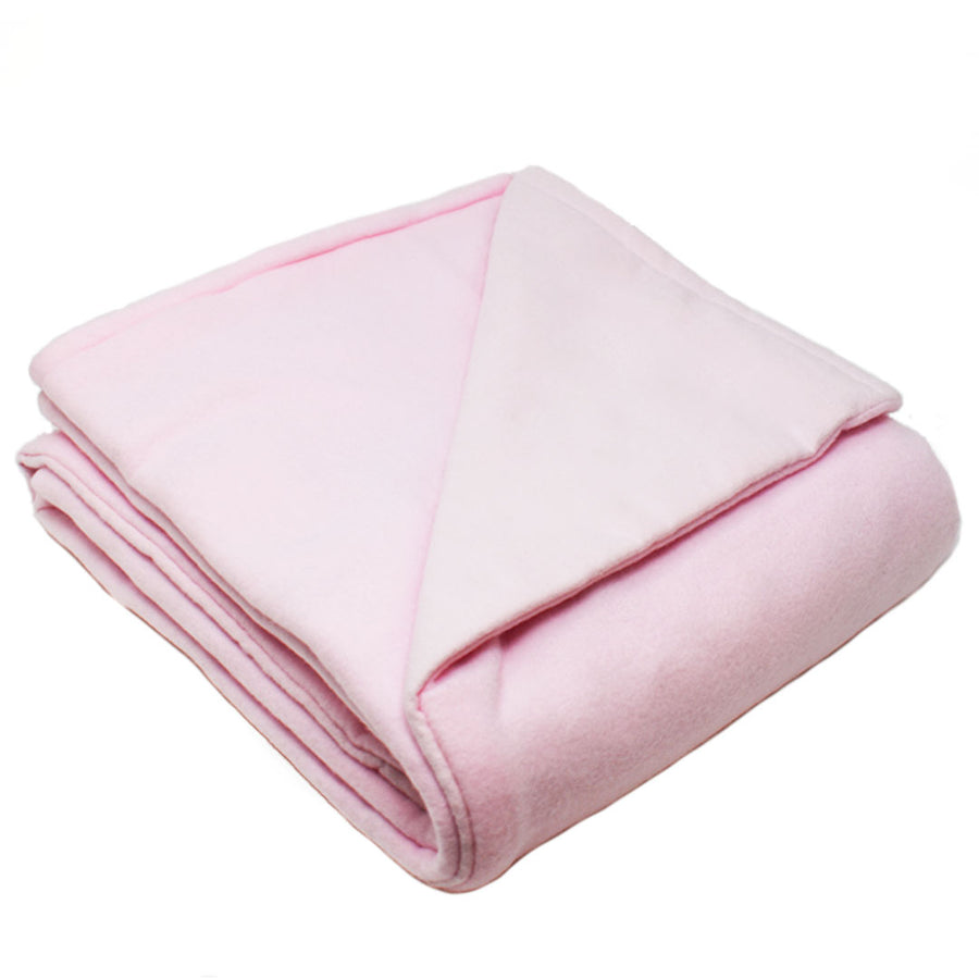 6LB Light Pink Fleece and Flannel