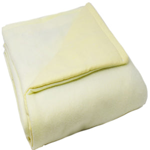 3LB Pale Yellow Fleece and Flannel